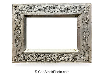 Pressed Metal Picture Frame Isolated