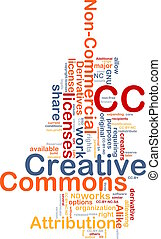 Creative commons background concept