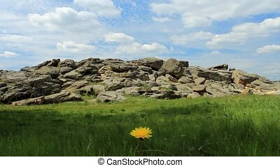 Stone tomb in the steppes of Ukraine - Stone tomb in the...