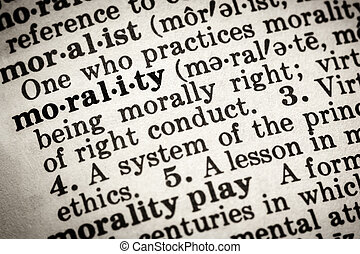 Morality Dictionary Definition
