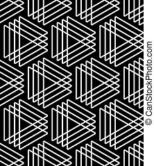 Triangles pattern. Seamless geometric lines texture. Vector...