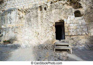 Golghota known as Garden Tomb, Jerusalem, Israel, Middle...