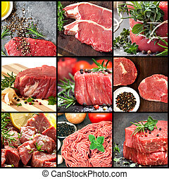 Collection of Raw Beef Images
