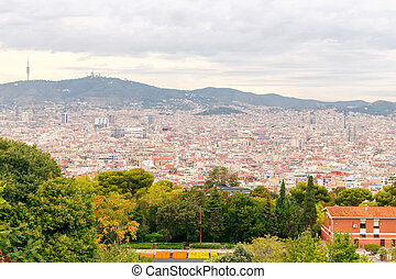 Fortress Montjuic Barcelona - Barcelona from the top of the...