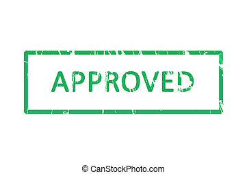Approved office rubber stamp