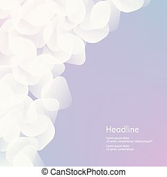 Background of white petals. The effect of haze. Isolated....