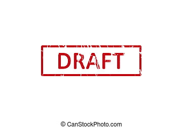 Draft office rubberstamp - An office rubber stamp with the...