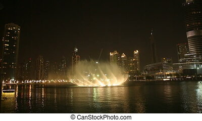 Dubai Fountain at night 2014