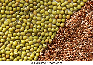 Mung beans, flax seeds and soya flakes good for menopausal...