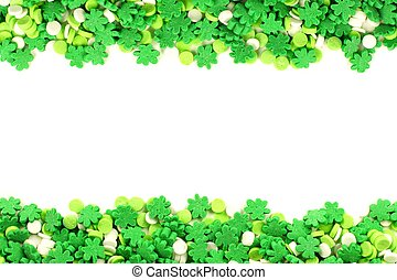 St Patricks Day candy frame - St Patricks Day frame of green...