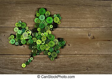 St Patricks Day button shamrock - St Patricks Day shamrock...