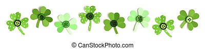 St Patricks Day shamrock border - St Patricks Day border of...