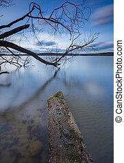 Long exposure photo of lake shore - Beautiful long exposure...