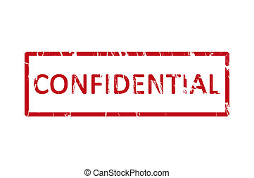 Confidential stamp - An office stamp with the letters...