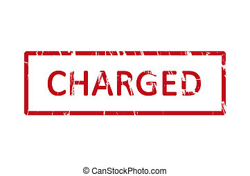 Charged rubber stamp