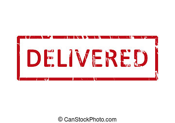 Delivered rubber stamp - An office rubber stamp with the...