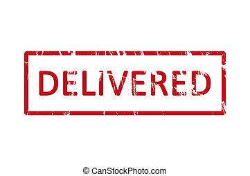 Delivered rubber stamp