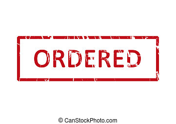 Ordered rubber stamp