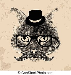 Hipster cat theme