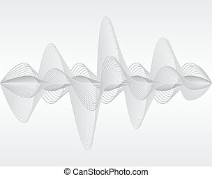 Sound wave Vector illustration Isolated 10 EPS