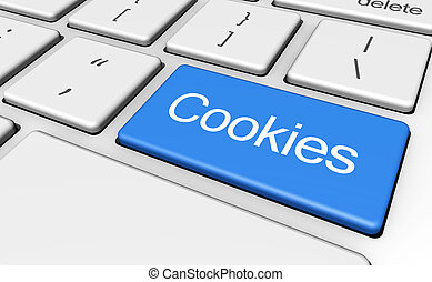 Website Cookies Concept - Internet browser and web concept...