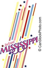Banner Mississippi for the presentation of the US state...