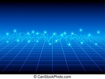 Blue wave vector background illustration vector design