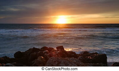 Captiva Sundown Loop - Seamless seascape loop features the...