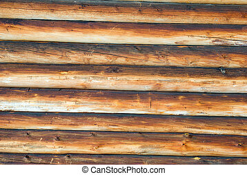 Log cabin background ,The side of a log building