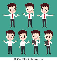 Businessman character actions set