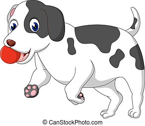 dog  - illustration of cute dog cartoon