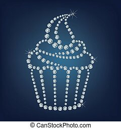 Cupcake made up a lot of diamonds