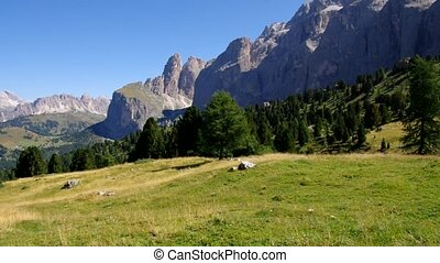 Sella pass in Dolomites, italian Alps