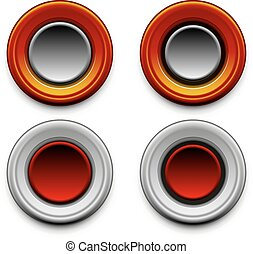 button vector multiple versions - abstract vector...