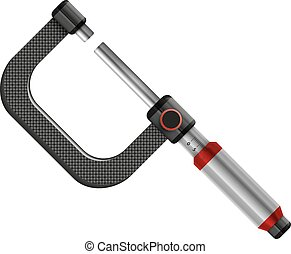micrometer - abstract vector illustration isolated icon eps...