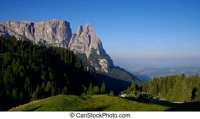 mountain Schlern in Dolomites