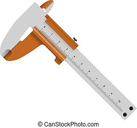 calipers - caliper abstract vector illustration isolated eps...