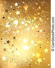 Gold foil - background of gold foil with shiny gold stars