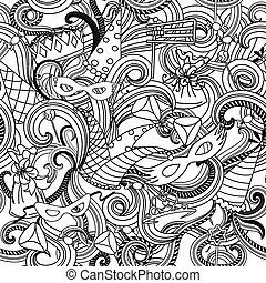 Purim Seamless Pattern - Seamless pattern background for...