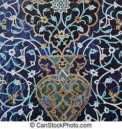 islamic persian mosaic on a wall