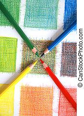 Color mix, pencils