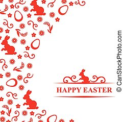 Easter congratulatory card - Vector illustrations of Easter...