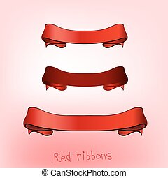 Ribbon banner red
