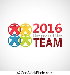 The year of TEAM. Vector illustration for your template