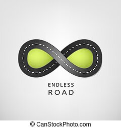 Endless road 02 A - Endless road in the ideal shape of...