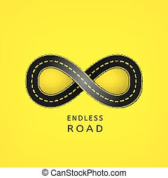 Endless road 03 A - Endless road in the shape of infinity...