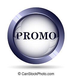Promo icon. Internet button on white background.