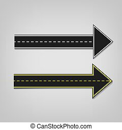 Road arrows 01 A - Vector editable illustration of an...