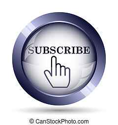 Subscribe icon Internet button on white background