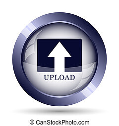 Upload icon Internet button on white background